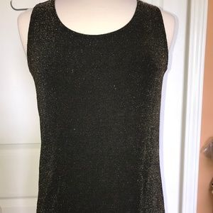 Chico's Travelers tank top gold sparkle 2 like new